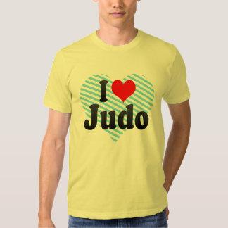 Eu amo o judo camiseta