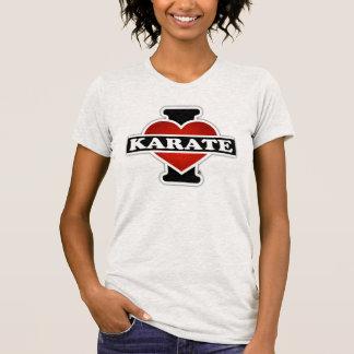 Eu amo o karaté t-shirt