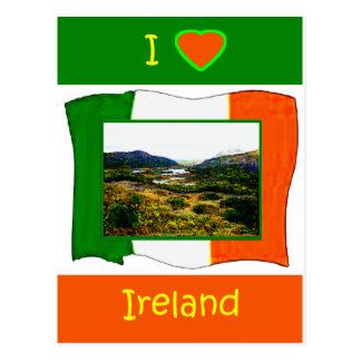 Eu amo o Kerry Ireland WhiteBackground3 da Cartões Postais