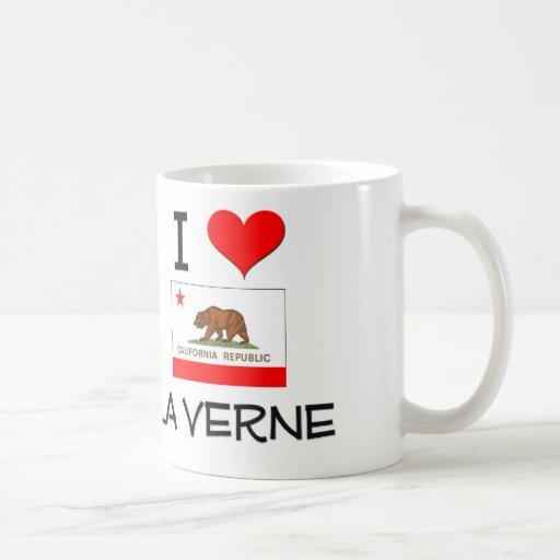 Eu amo o LA VERNE Califórnia Canecas