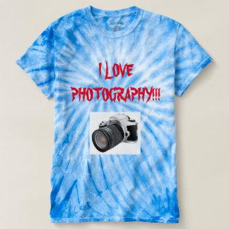 EU AMO o LAÇO da FOTOGRAFIA MORRI t-shirt Camiseta