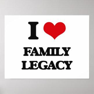 Eu amo o legado da família