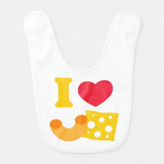 Eu amo o Mac e o queijo Babadores Para Bebes