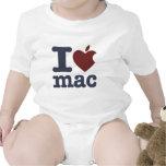 Eu amo o Mac Macacãozinhos Para Bebê