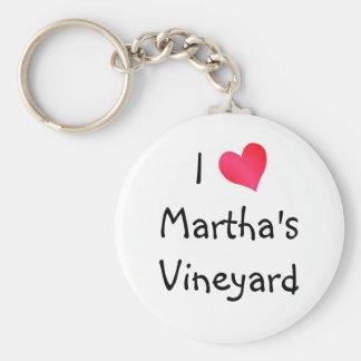 Eu amo o Martha's Vineyard Chaveiro