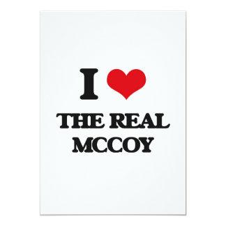 Eu amo o Mccoy real Convite 12.7 X 17.78cm