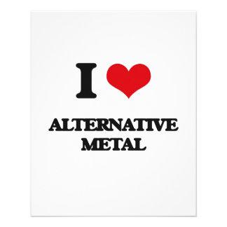 Eu amo o METAL ALTERNATIVO Panfletos Personalizados