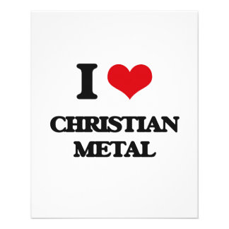 Eu amo o METAL CRISTÃO Panfleto Personalizados