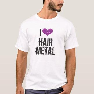 Eu amo o metal do cabelo camiseta
