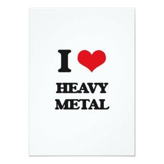 Eu amo o metal pesado convite 12.7 x 17.78cm