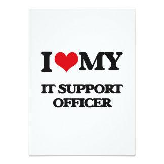 Eu amo-o meu oficial do apoio convite 12.7 x 17.78cm