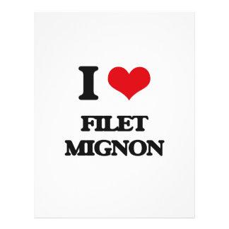 Eu amo o Mignon de faixa Panfletos Coloridos