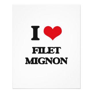 Eu amo o Mignon de faixa Modelo De Panfleto