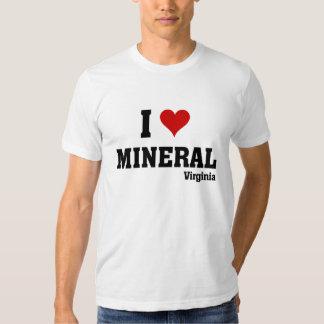 Eu amo o mineral t-shirts
