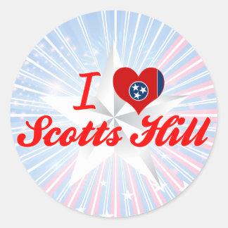 Eu amo o monte de Scotts, Tennessee Adesivos Em Formato Redondos