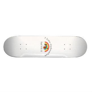 Eu amo o negócio das baratas com ele skateboard
