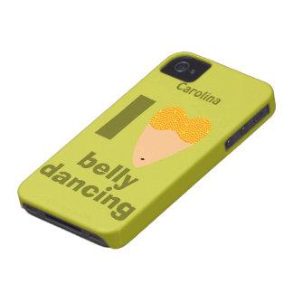 Eu amo o nome lunático do costume do dançarino de capinha iPhone 4
