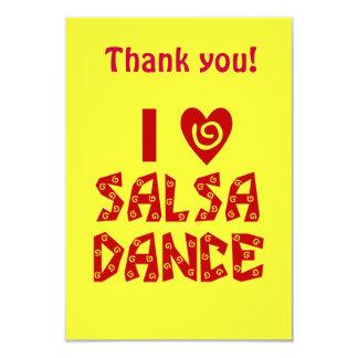 Eu amo o obrigado do dance party da salsa você convites