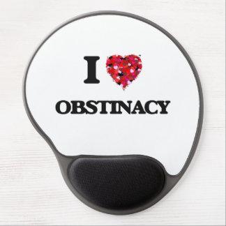 Eu amo o Obstinacy Mouse Pad De Gel