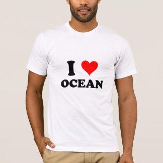 Eu amo o oceano camiseta