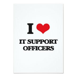 Eu amo-o oficiais do apoio convite 12.7 x 17.78cm