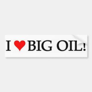 Eu amo o óleo! adesivo para carro