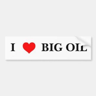 Eu amo o óleo grande adesivo