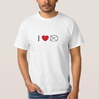 Eu amo o operador camisetas