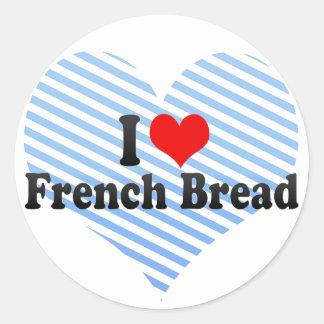 Eu amo o pão francês adesivo