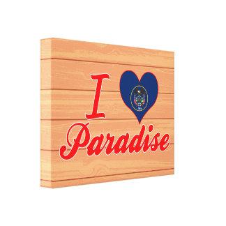 Eu amo o paraíso Utá Impressão Em Tela Canvas
