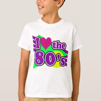 Eu amo o partido de néon geométrico dos anos 80 do camiseta