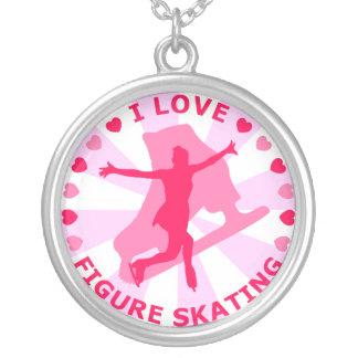 Eu amo o patinagem artística pingentes