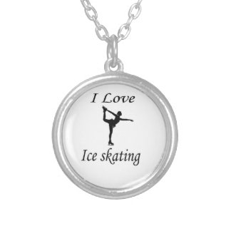 Eu amo o patinagem no gelo colar personalizado