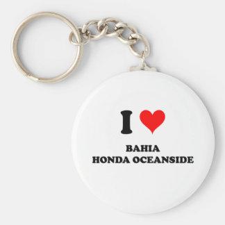 Eu amo o perto do oceano de Baía Honda Chaveiro