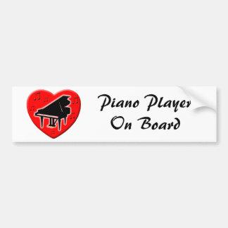 Eu amo o piano adesivo para carro