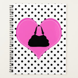 Eu amo o planejador das bolinhas das bolsas
