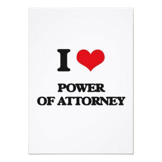 Eu amo o poder do advogado convites personalizados