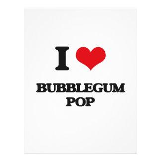 Eu amo o POP de BUBBLEGUM Modelos De Panfleto