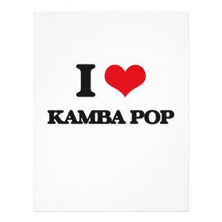 Eu amo o POP de KAMBA Panfletos Coloridos