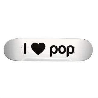 Eu amo o pop shape de skate 20,6cm
