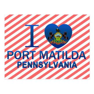 Eu amo o porto Matilda, PA Cartão Postal