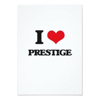 Eu amo o prestígio convite 12.7 x 17.78cm