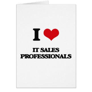 Eu amo-o profissionais das vendas cartão comemorativo