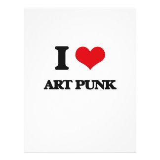 Eu amo o PUNK da ARTE Modelos De Panfleto