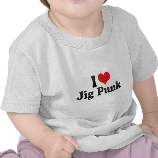 Eu amo o punk do gabarito camiseta