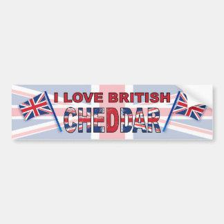 Eu amo o queijo Cheddar britânico Adesivos