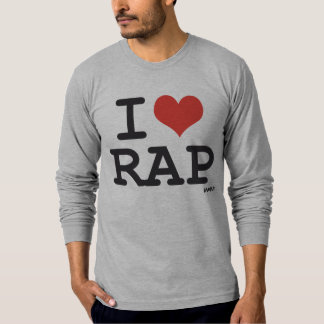 Eu amo o rap camiseta