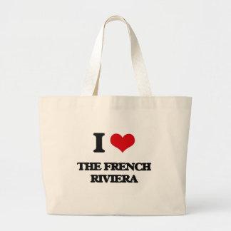 Eu amo o Riviera francês Sacola Tote Jumbo