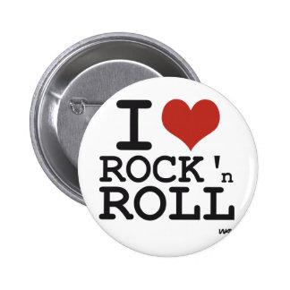 Eu amo o rock and roll boton