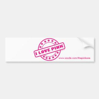 Eu amo o rosa adesivo para carro
